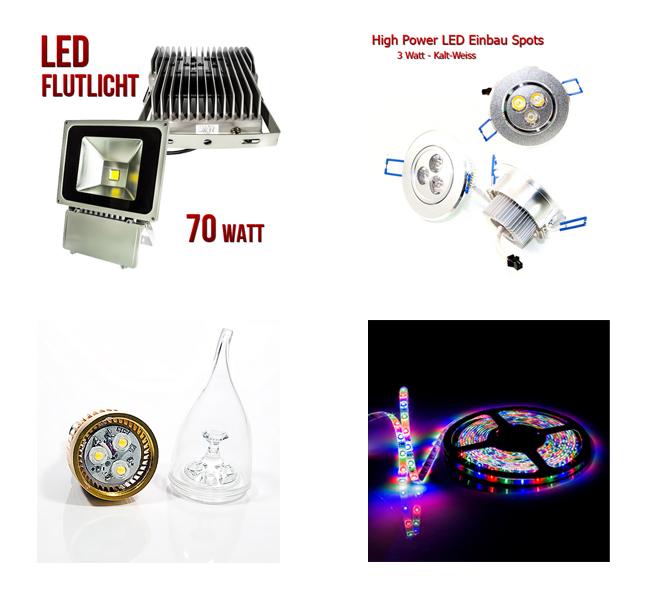 numerva led licht leuchten LED Produkte   Energie sparen mit modernster LED Technik von Numerva
